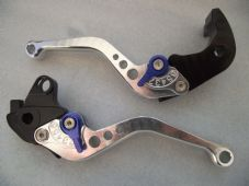 Honda CBR1000RR (04-07), CNC levers short silver/blue adjusters, F33/H33